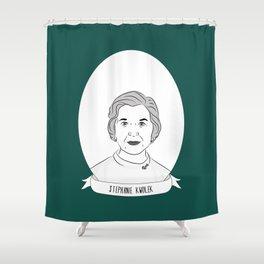 Stephanie Kwolek Illustrated Portrait Shower Curtain