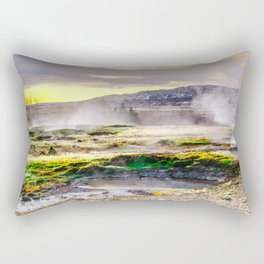 Geysers valley in Iceland Rectangular Pillow