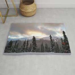 Touching the clouds Rug