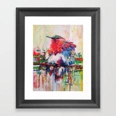 colorful bird- nature  Framed Art Print