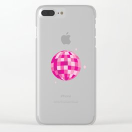 Disco Dreams Clear iPhone Case