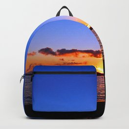 Sunset on the River in Georgetown Backpack