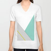 minimal V-neck T-shirts featuring MINIMAL COMPLEXITY by .eg.