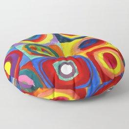 Kandinsky, Farbstudie - Quadrate und konzentrische Ringe, Color Study. Squares with Concentric Circles 1913 Floor Pillow