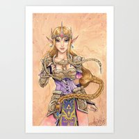 hyrule Art Prints featuring Hyrule Valor by arumise