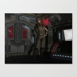 there are no aliens on my ship Canvas Print
