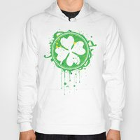 clover Hoodies featuring Patrick's clover by Sitchko Igor