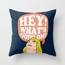 Hey-Man Throw Pillow