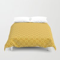 yellow pattern Duvet Covers featuring yellow pattern by Artemio Studio