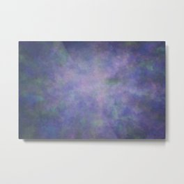 Abstract Soft Watercolor Gradient Ombre Blend 3 Purple Blue and Green Metal Print