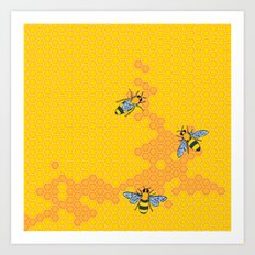HoneyBees 1 Art Print