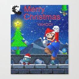 Mario Christmas #2 Canvas Print
