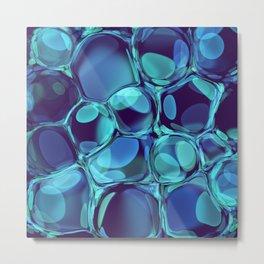 Bubble Blue Pop Metal Print