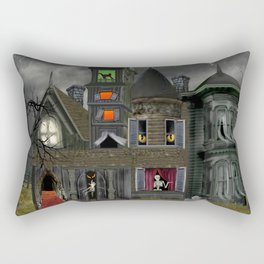 Halloween Haunted Mansion Rectangular Pillow