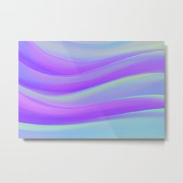 cold blue and violate colorful wavy abstract mixer brush Metal Print