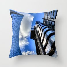 Lloyds of London and Willis Group Buildings Throw Pillow
