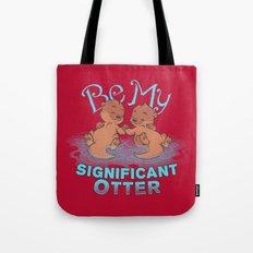 Otter Valentine Tote Bag