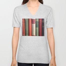 Old Books - Square Unisex V-Neck