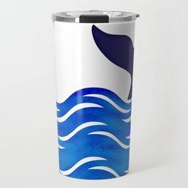 Blue Whale Tail Travel Mug