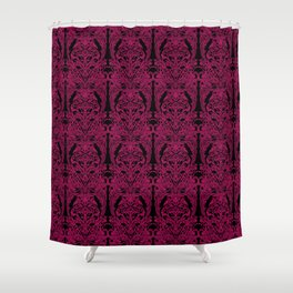 The Grand Salon, Magenta Mourning Shower Curtain