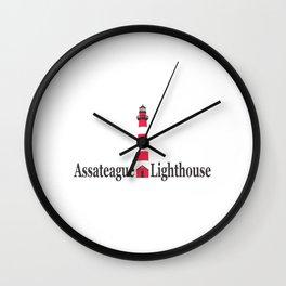 Assateague Lighthouse - Virginia. Wall Clock