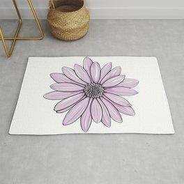 Purple Daisy Flower Rug
