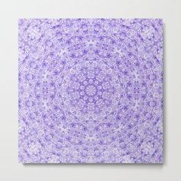 Violet Aquatica Kaleido Metal Print