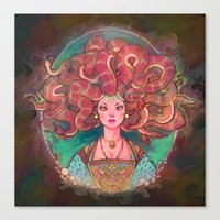 medusa Canvas Prints featuring Medusa by Kindra Haugen