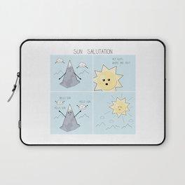 Sun salutation funny comic square panel Laptop Sleeve