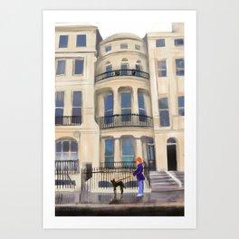 Brighton Flat Art Print