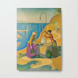 Women at the Well Metal Print