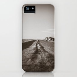 Walkin' on a Country Road, Sepia iPhone Case