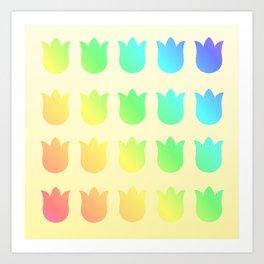 Botanical Pattern 4 Tulipo Spectrum Art Print