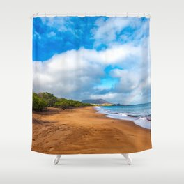 Golden Sands Beach, Galapagos With Rainbow Shower Curtain