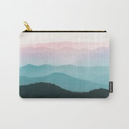 Smoky Mountain National Park Sunset Layers III - Nature Photography Carry-All Pouch