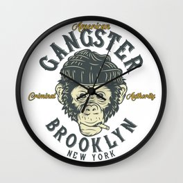 Gangster Brooklyn Wall Clock