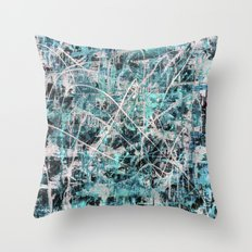 Imogene in Topaz Throw Pillow