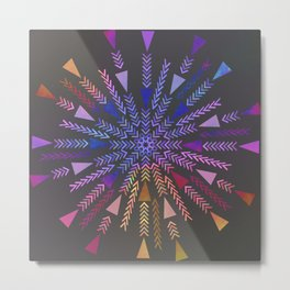 Multicolored geometric firework Metal Print