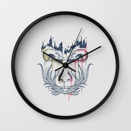 Illusion face Wall Clock