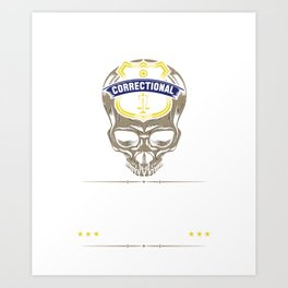 Proud Correctional Officer Art Print