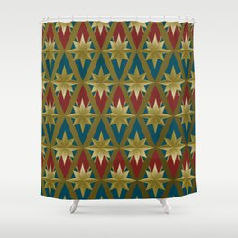 Gold Stars of a Hero Shower Curtain