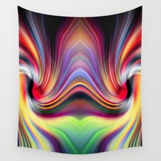 Contemplating Rainbows Wall Tapestry