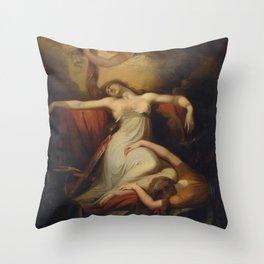 Johann Heinrich Füssli (Henry Fuseli) - Dido Throw Pillow