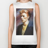 bowie Biker Tanks featuring Bowie by Cristina Sandia