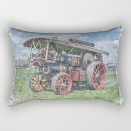 "Showmans Engine ""Lord Nelson"" Desatuated Rectangular Pillow"