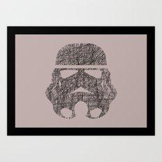 Lines of Trooper Art Print
