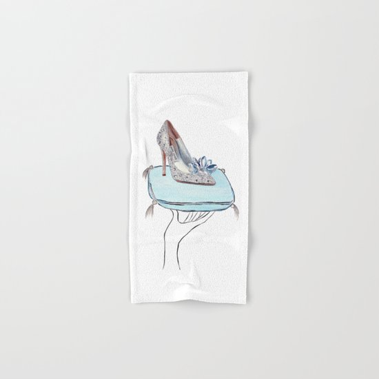 Cinderella slipper Hand & Bath Towel