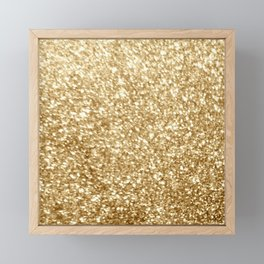 Gold glitter Framed Mini Art Print