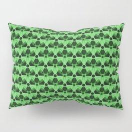 Nuclear Green & Black Nuke Symbol Pillow Sham