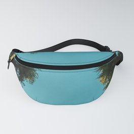 Turquoise Forest Sky Pacific Northwest Woods - Nature Photography Fanny Pack